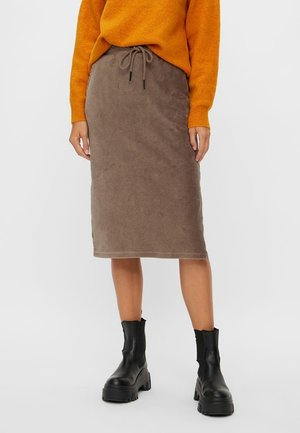 Pencil skirt - dark brown