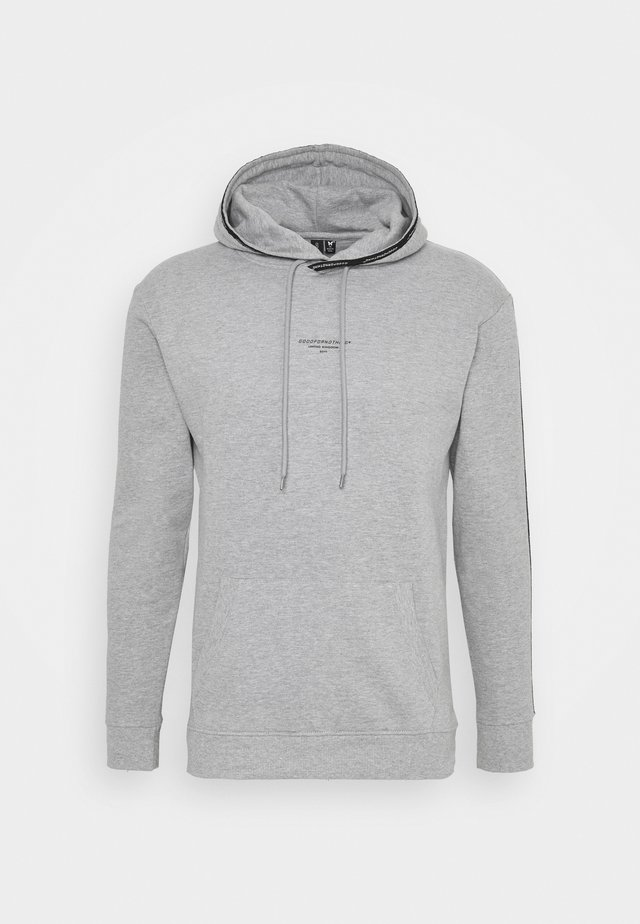 FITTED HOOD WITH TAPING UNISEX - Hoodie - grey