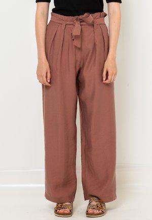 ÉCOURTÉ  - Pantalon classique - marron