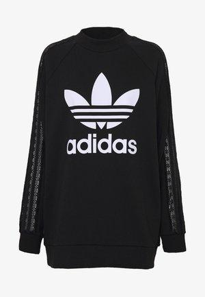 BELLISTA TREFOIL LACE LONG SLEEVE PULLOVER - Sweatshirt - black