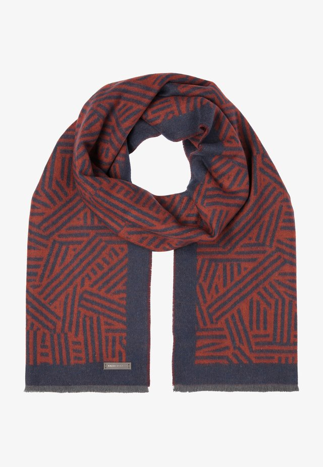 Scarf - orange, light blue