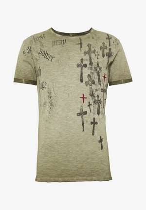 PRAYER ROUND - Print T-shirt - mil green