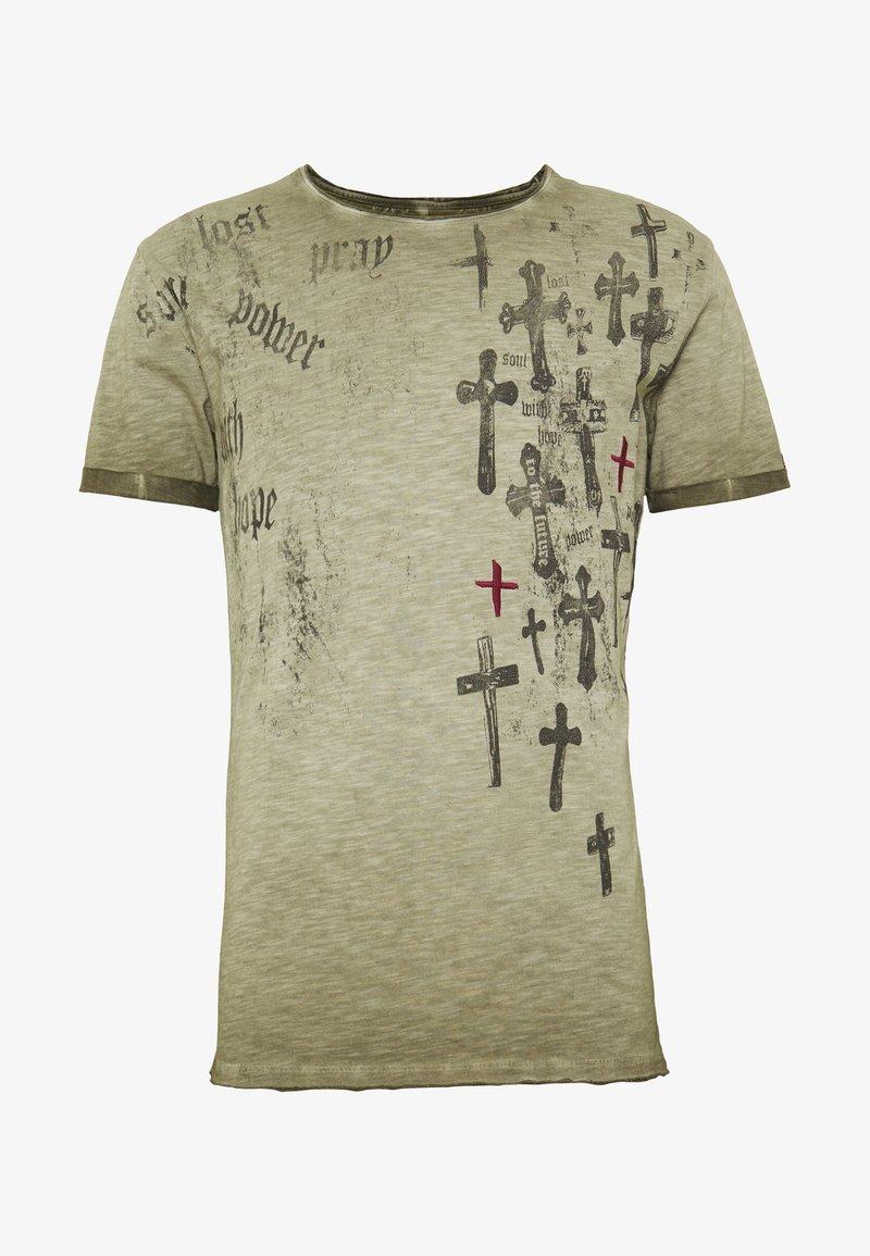 Key Largo - PRAYER ROUND - Print T-shirt - mil green