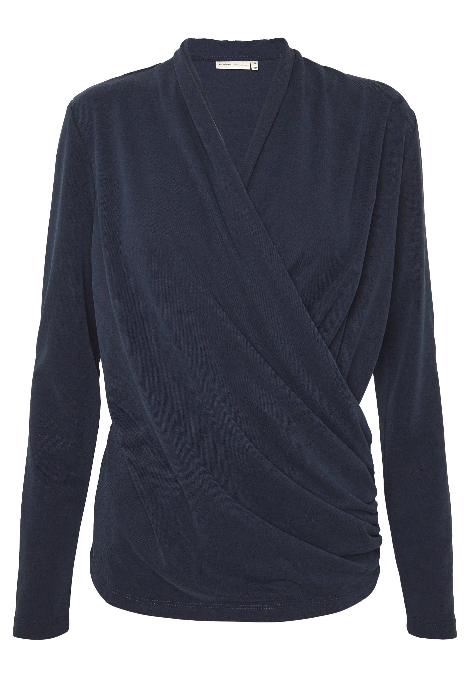 Beige AlanoIW Wrap Bluse  InWear  Bluser - Dameklær er billig