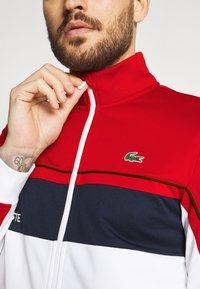 Lacoste Sport - TENNIS JACKET - Training jacket - ruby/white/navy blue/white - 5