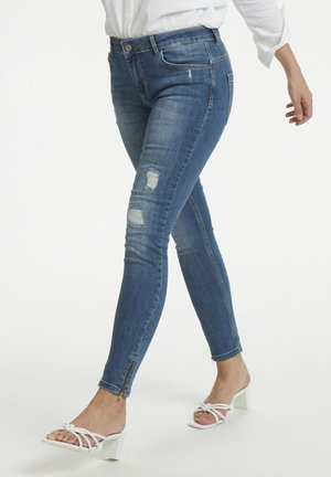 40 THE CELINAZIP TORN CUSTOM - Jeans Skinny Fit - medium blue vintage