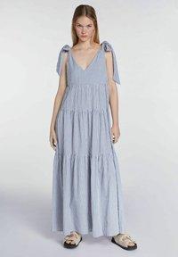 SET - Maxi dress - blue white - 1