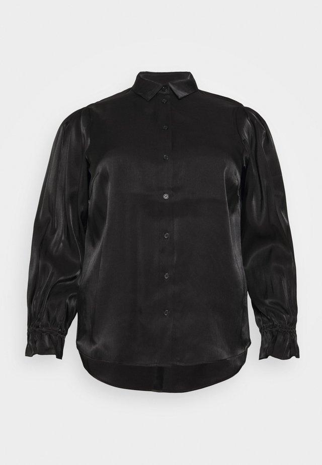 PCRAVENNA - Button-down blouse - black