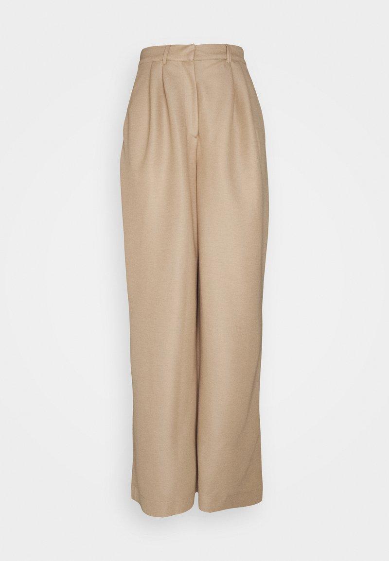 Esprit Collection - ECO VERO PANT - Trousers - beige