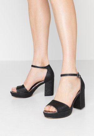 High heeled sandals - black glam
