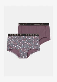 Name it - NKFHIPSTER 2 PACK - Briefs - black plum - 0