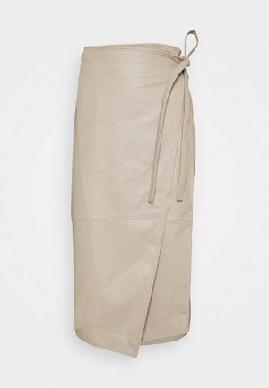 MURPHY - Leather skirt - chickpea