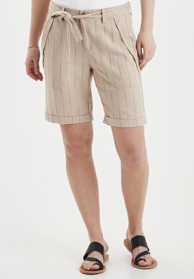 DRJADE 4 SHORTS - LINEN BLEND - Shorts - doeskin mix