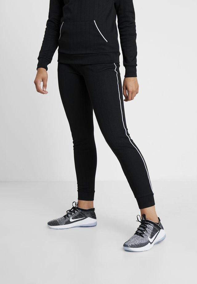 JOANNA REGULAR PANTS - Collant - black/white