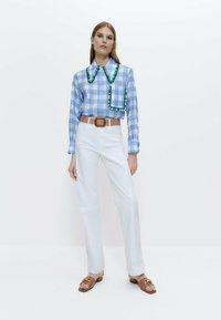 Uterqüe - Straight leg jeans - white - 1