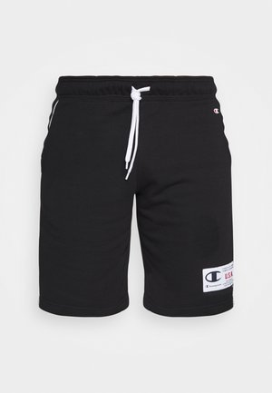 BERMUDA - Sports shorts - black/white