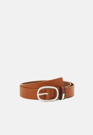 OVAL BELT - Pásek - brown