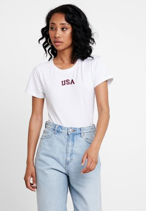 AMERICA - Print T-shirt - white