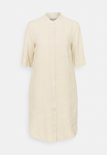 DRESS STYLE BREAST POCKET COLLARSTAND - Day dress - summer taupe