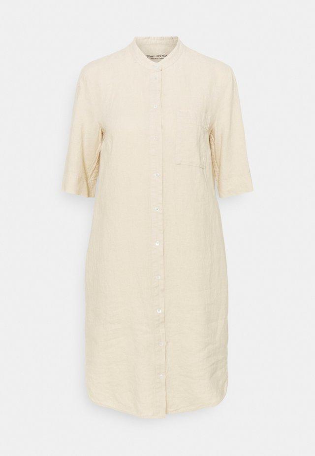 DRESS STYLE BREAST POCKET COLLARSTAND - Korte jurk - summer taupe