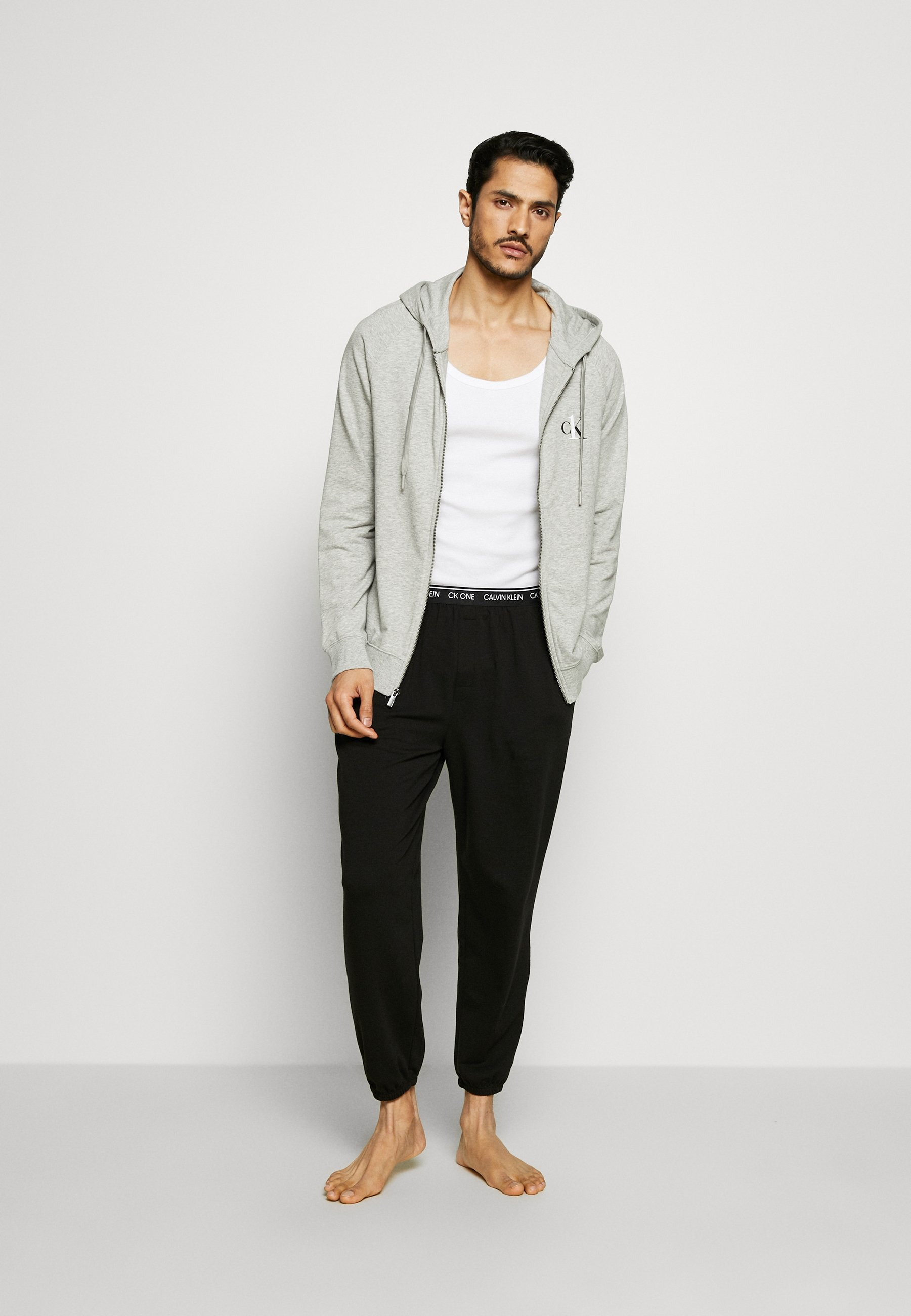 Men LOUNGE FULL ZIP HOODIE - Pyjama top