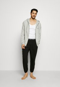Calvin Klein Underwear - LOUNGE FULL ZIP HOODIE - Pyjamapaita - grey - 1