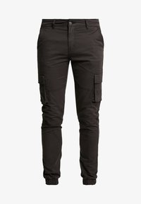 Denim Project - CARGO PANT PLAIN - Bojówki - black - 4