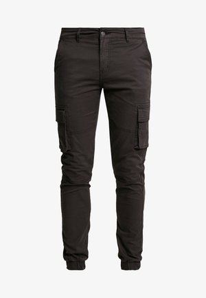 CARGO PANT PLAIN - Cargo trousers - black