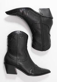Even&Odd - Cowboy/biker ankle boot - black - 3