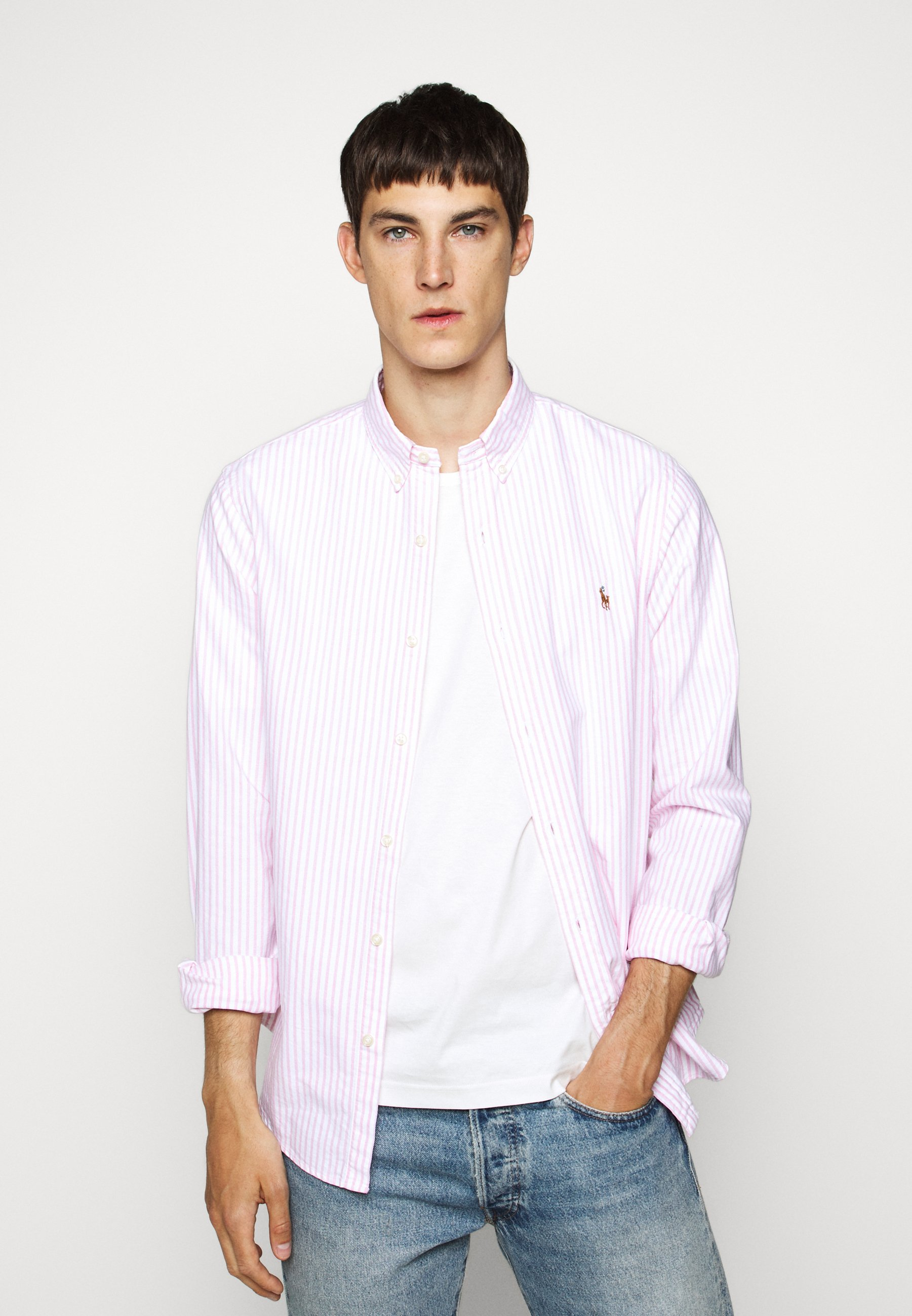 Homme SLIM FIT STRIPED OXFORD SHIRT - Chemise