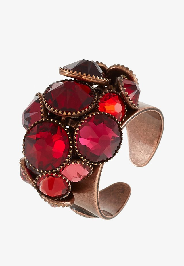 WATERFALLS - Ring - red/dark rose