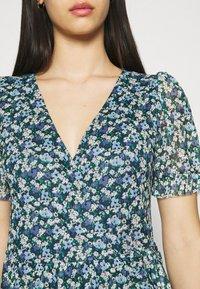 Vila - VIVOLETTE WRAP DRESS - Vestido informal - navy blazer/cottage - 5
