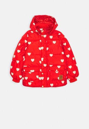HEARTS PICO- PUFFER - Zimní bunda - red