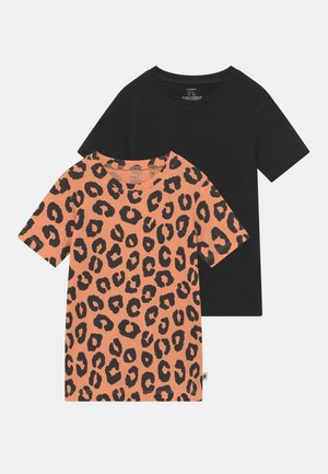 LEO 2 PACK UNISEX - Print T-shirt - light orange