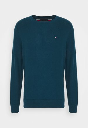 HONEYCOMB CREW NECK - Pullover - blue