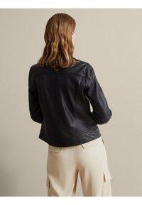 Massimo Dutti - NAPPA - Leather jacket - black - 1