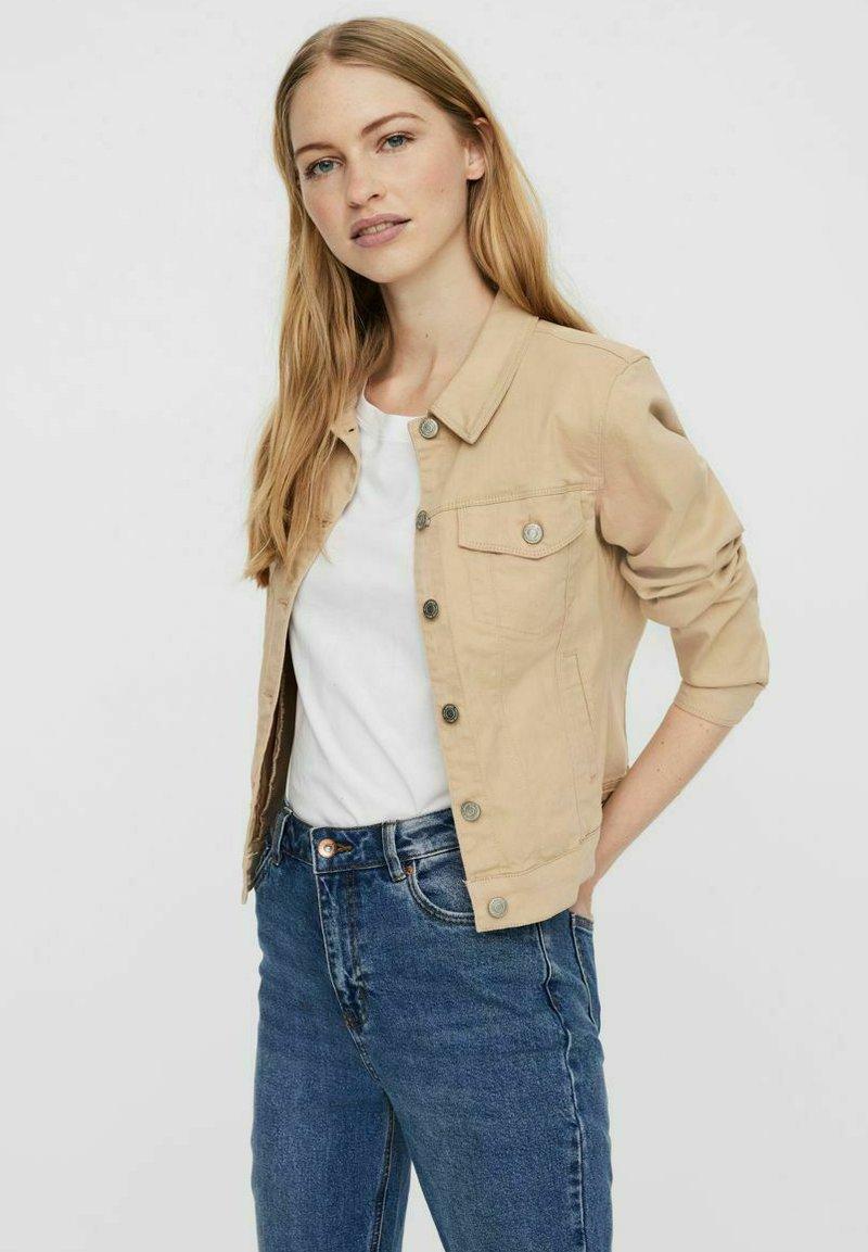 Vero Moda - Denim jacket - beige, mottled beige