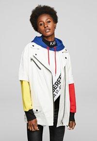 KARL LAGERFELD - Leather jacket - white - 0