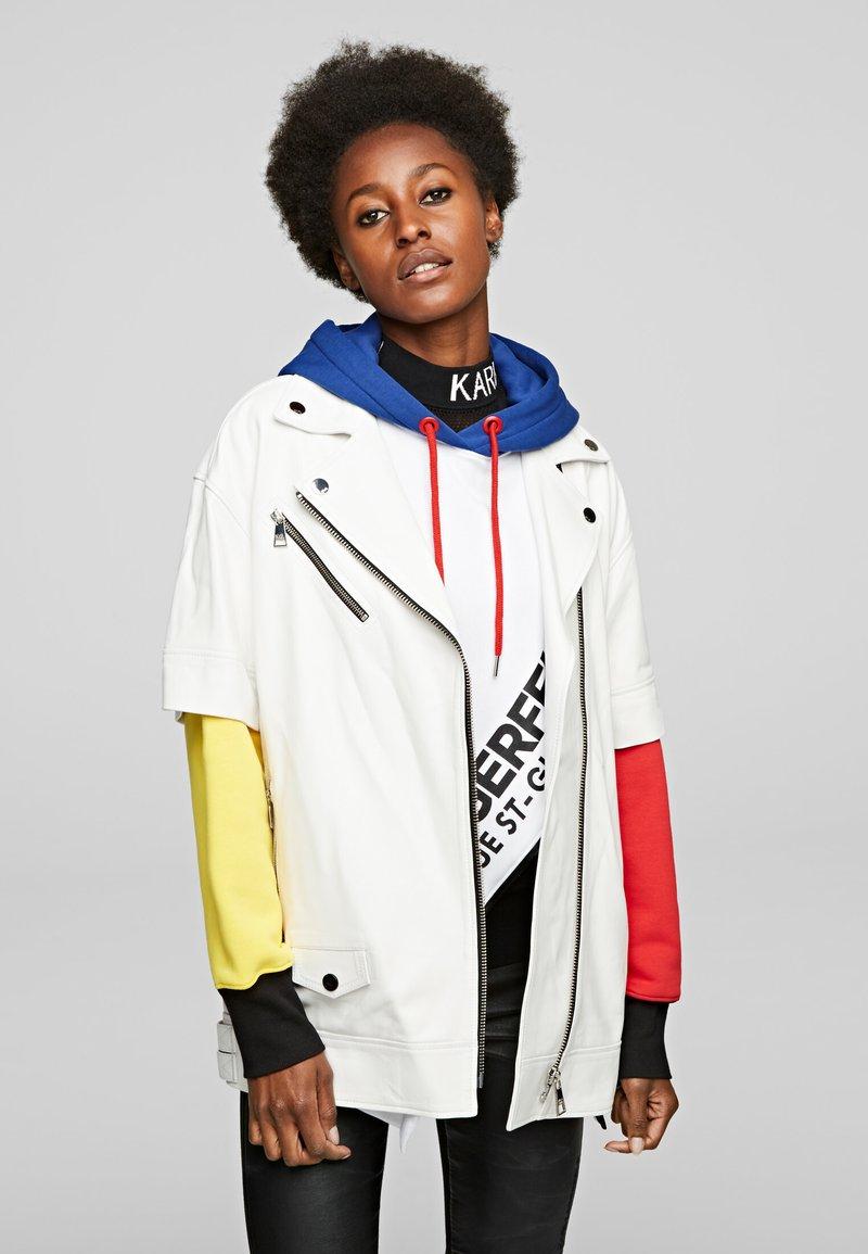 KARL LAGERFELD - Leather jacket - white