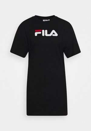 SATINKA TEE DRESS - Jerseykjole - black