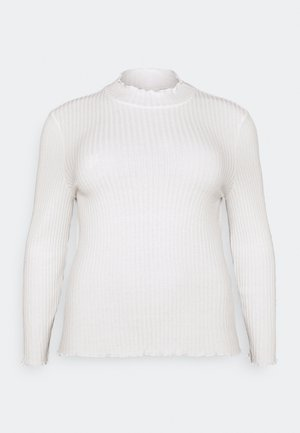 NMBERRY HIGH NECK - Long sleeved top - sugar swizzle