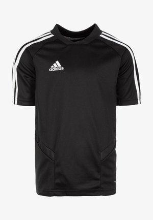 TIRO 19 AEROREADY CLIMACOOL JERSEY - Camiseta estampada - black/white