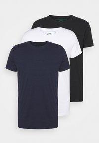 ELON  3PACK - Jednoduché triko - navy/white/black
