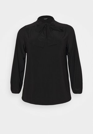 BLACK BOW - Long sleeved top - black