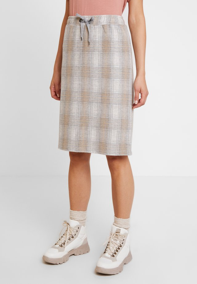 CHICI SKIRT - A-line skjørt - light grey melange