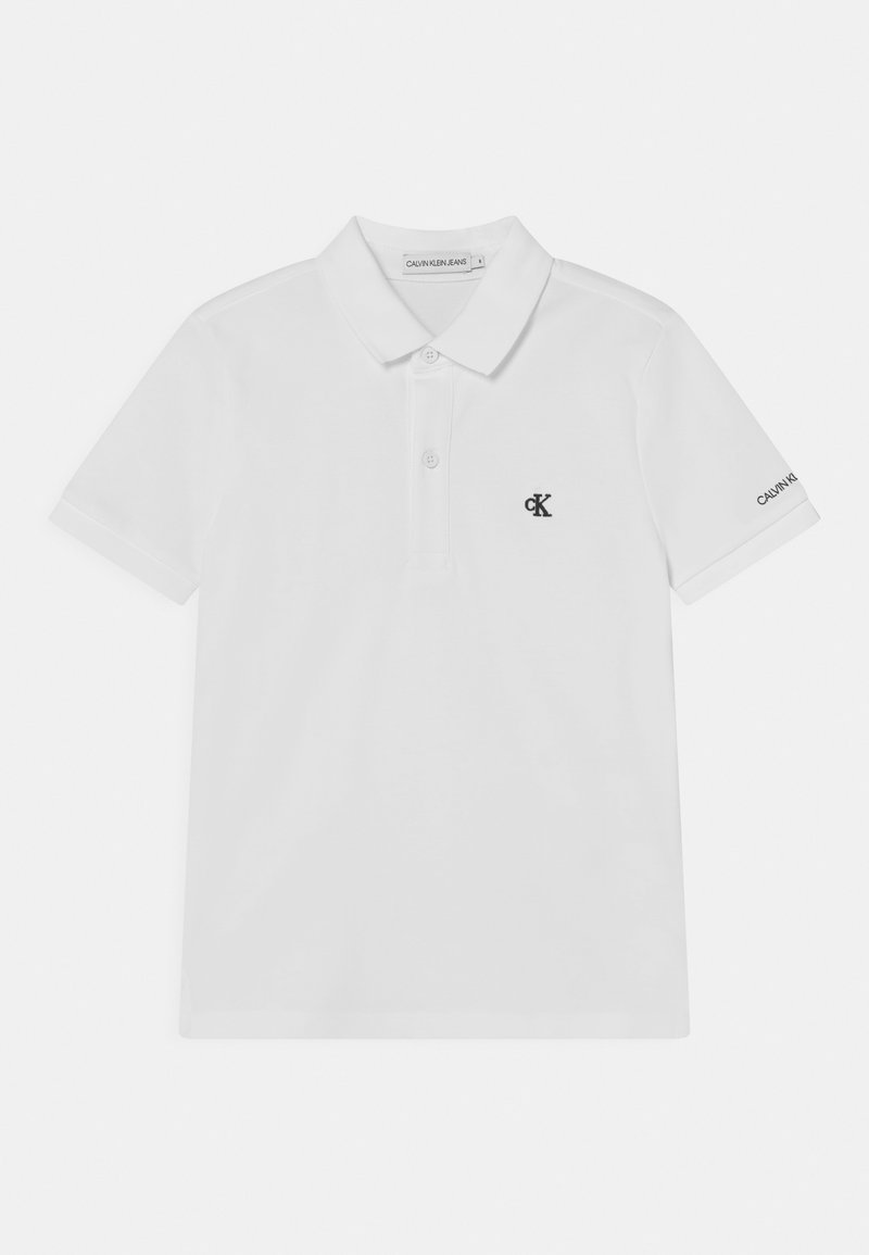 Calvin Klein Jeans - MONOGRAM CHEST FITTED  - Poloshirts - white