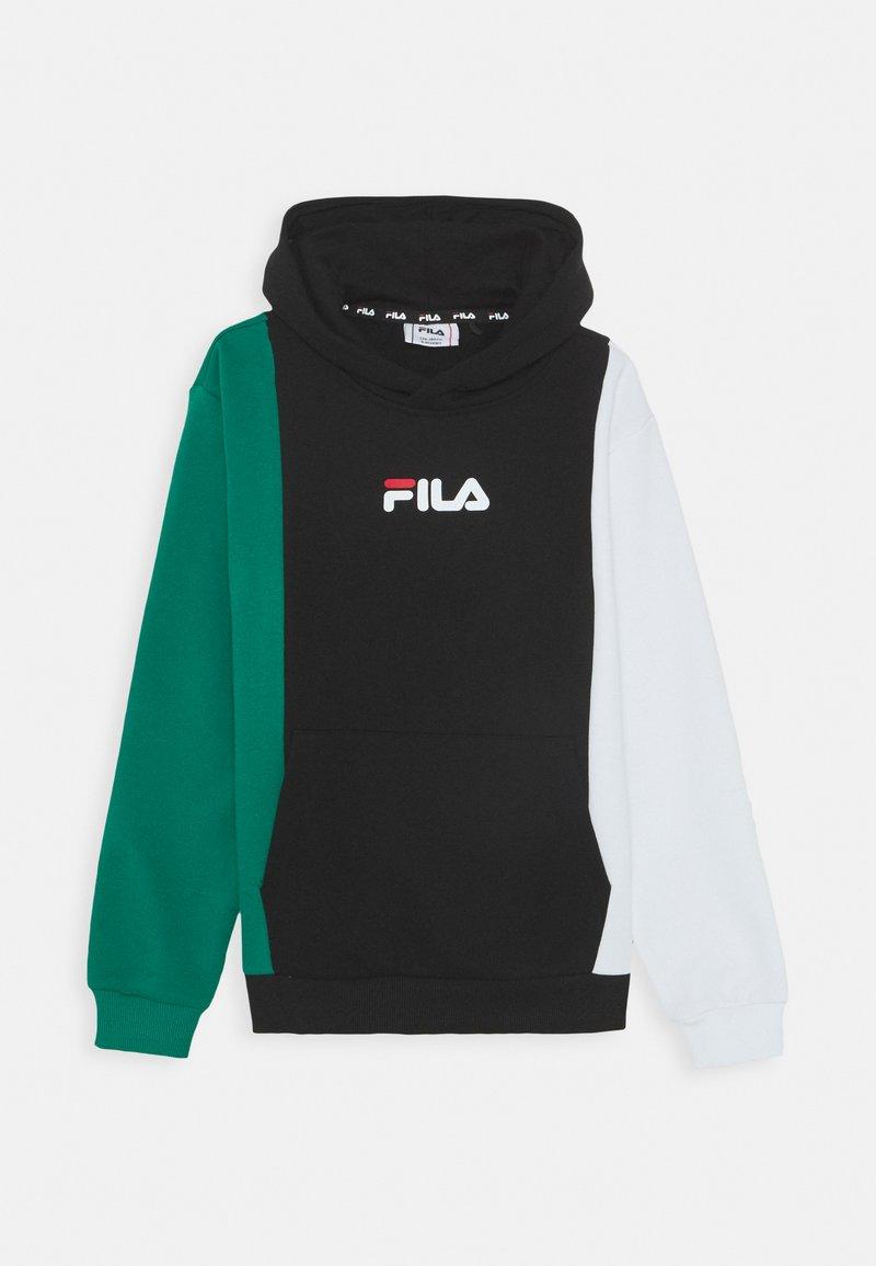 Fila - TAHAN - Hoodie - black/bright white/shady glade