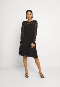 Vila - VIURIS LACE DRESS - Day dress - black - 1