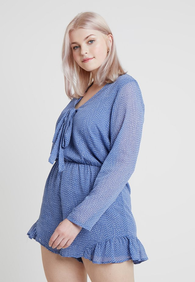 SPOT LONG SLEEVE PLAYSUIT - Jumpsuit - blue random