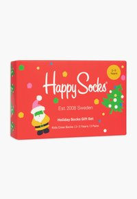 Happy Socks - CHRISTMAS HOLIDAY GIFT 3 PACK UNISEX - Socks - red - 3